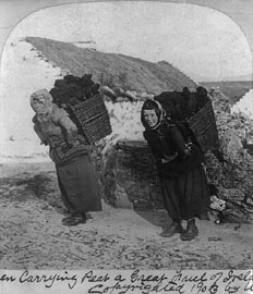 Women carrying peat, Dooagh, Achill Island
