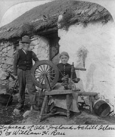 At the spinning wheel, Achill Island