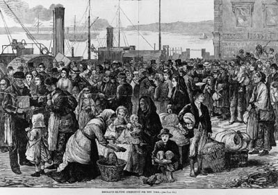 Emigrants leaving Queenstown for New York